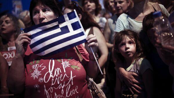 Manifestación frente al Parlamento griego en Atenas - Sputnik Mundo