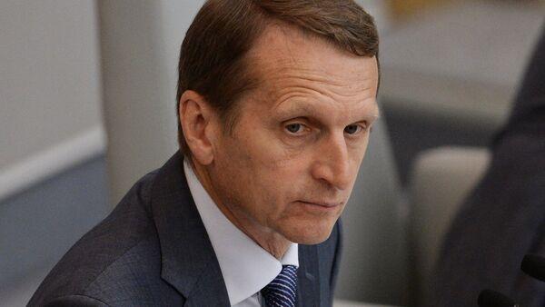 Serguéi Narishkin, presidente de la Duma de Estado - Sputnik Mundo