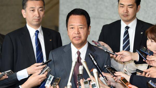 Akira Amari, ministro de Política Económica y Financiera de Japón (archivo) - Sputnik Mundo