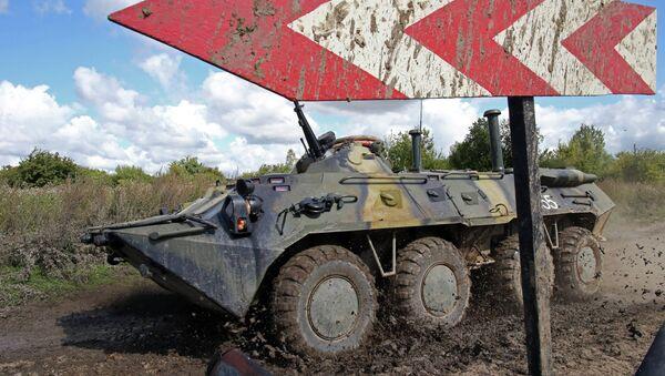 BTR-80, transporte blindado ruso (imagen referencial) - Sputnik Mundo