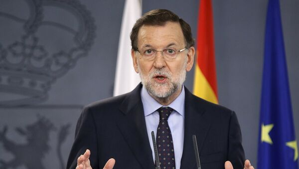 Mariano Rajoy en una rueda de prensa junto a su homóloga polaca, Ewa Kopacz - Sputnik Mundo
