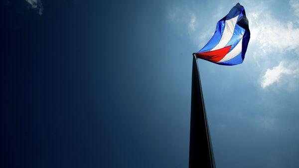 The Cuban flag over their new embassy in Washington, Monday, July 20, 2015. - Sputnik Mundo
