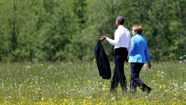 Barack Obama, presidente de EEUU, y Angela Merkel, canciller de Alemania, el 7 de junio, 2015 - Sputnik Mundo