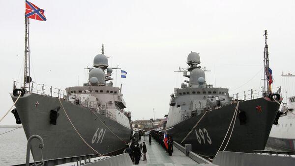 Buques Dagestan y Tatarstan de la Flotilla del Caspio (archivo) - Sputnik Mundo