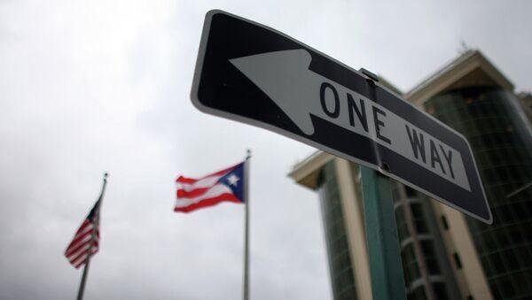 Banderas de Puerto Rico y EEUU - Sputnik Mundo