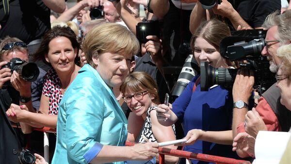 La canciller de Alemania, Angela Merkel en Bayreuth - Sputnik Mundo
