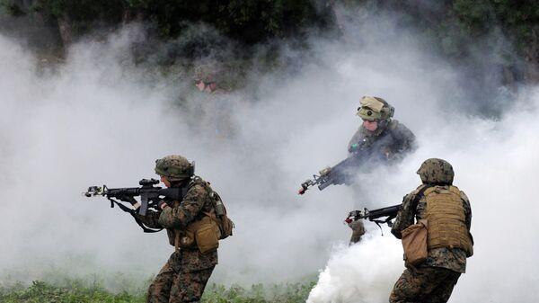 Soldados estadounidenses durante los ejercicios en Ucrania (Archivo) - Sputnik Mundo