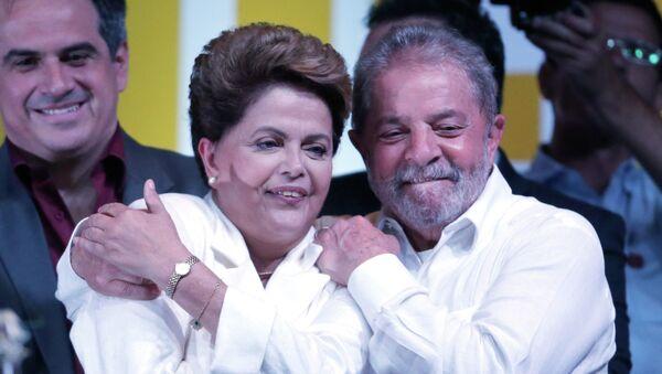 Presidenta apartada de Brasil, Dilma Rousseff, y expresidente de Brasil, Luiz Inacio Lula da Silva - Sputnik Mundo