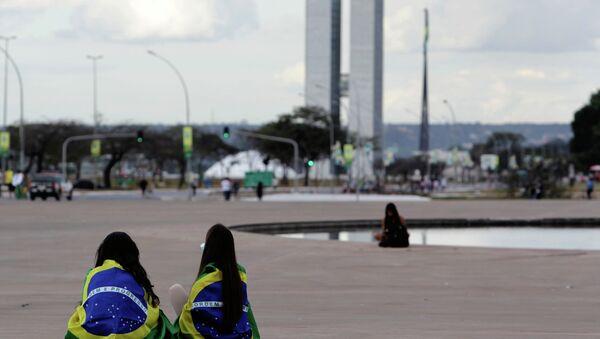 La protestación contra el sexismo y por los derechos de las mujeres en Brasil (archivo) - Sputnik Mundo