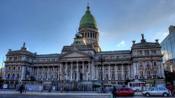 Edificio del Congreso de la Nación Argentina en Buenos Aires - Sputnik Mundo