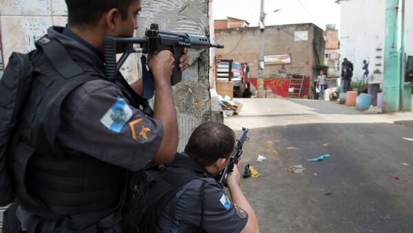 Policía Militar de Brasil (archivo) - Sputnik Mundo