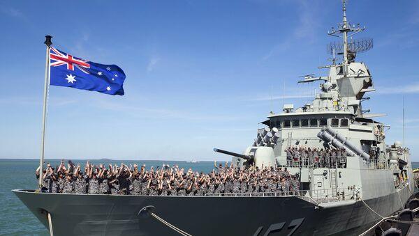 Buque HMAS Perth de Armada Real Australiana - Sputnik Mundo
