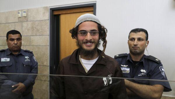 Meir Ettinger, el sospechoso de extremisto judío, en el Juzgado de Nazaret - Sputnik Mundo