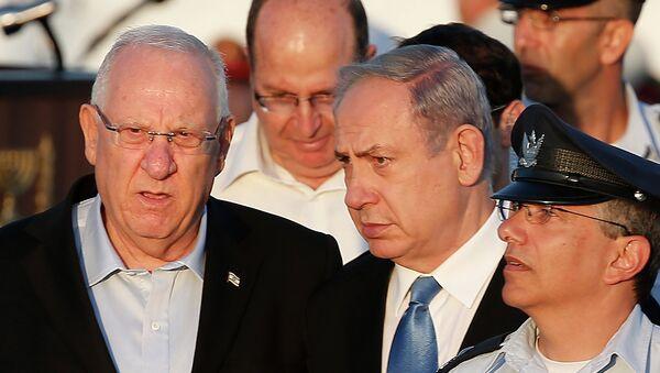 Presdiente de Israel, Reuven Rivlin, y primer ministro israelí, Benjamin Netanyahu - Sputnik Mundo