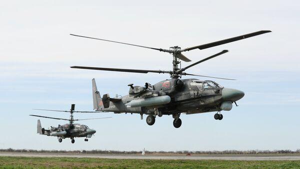 Unos helicópteros de combate polivalentes rusos (archivo) - Sputnik Mundo