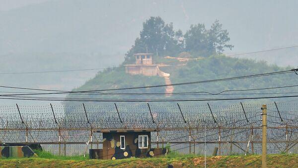 Frontera entre Corea del Norte y Corea del Sur (archivo) - Sputnik Mundo