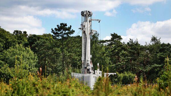 Sitio de perforación de la empresa Cuadrilla en Balcombe, Inglaterra - Sputnik Mundo
