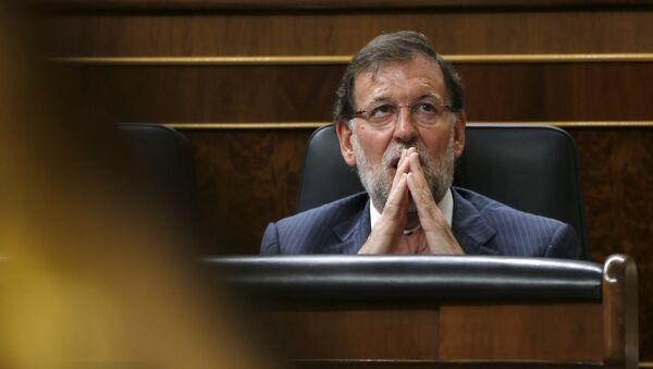 Mariano Rajoy, primer ministro de España, durante la sesión parlamentaria en Madrid, el 18 de agosto, 2015 - Sputnik Mundo