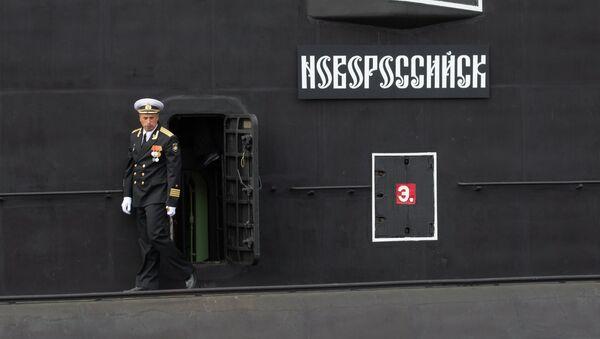 Un oficial en la cubierta del submarino Novorossiysk - Sputnik Mundo