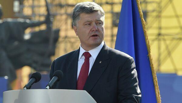 Presidente de Ucrania, Petró Poroshenko - Sputnik Mundo