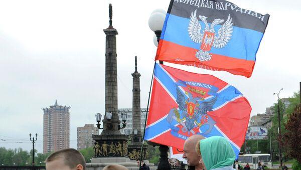 Banderas de Donbás - Sputnik Mundo