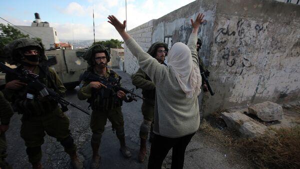 Soldados israelíes durante protestas en Cisjordania (Archivo) - Sputnik Mundo