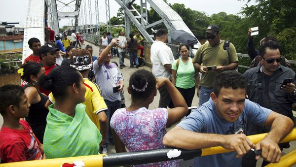 La frontera entre Venezuela y Colombia - Sputnik Mundo