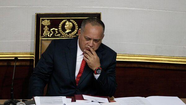 El titular de la Asamblea Nacional (Parlamento) de Venezuela, Diosdado Cabello (archivo) - Sputnik Mundo