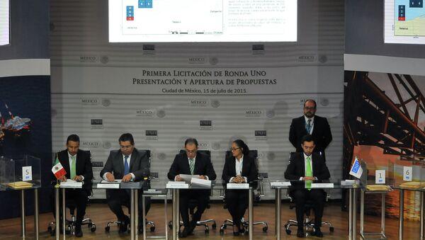 Los miembros de la Comisión Nacional de Hidrocarburos de México - Sputnik Mundo