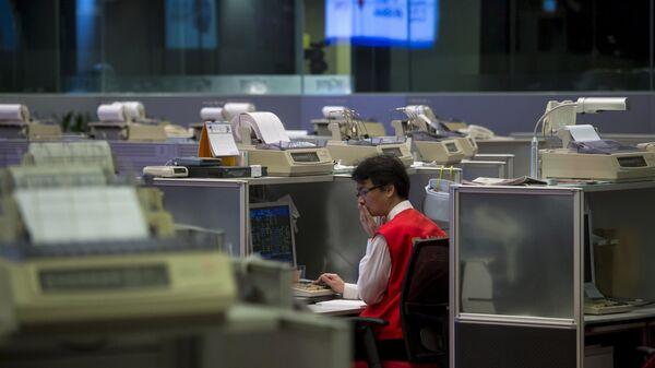 Bolsa de Hong-Kong, China - Sputnik Mundo