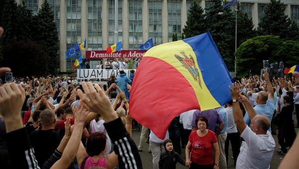 Protestas en Chisinau, el 6 de septiembre, 2015 - Sputnik Mundo