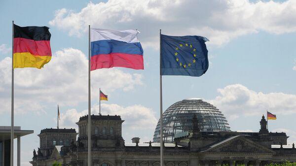 Banderas de Alemania y Rusia - Sputnik Mundo