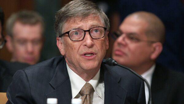 Bill Gates, Microsoft co-founder and co-chair of the Bill and Melinda Gates Foundation - Sputnik Mundo