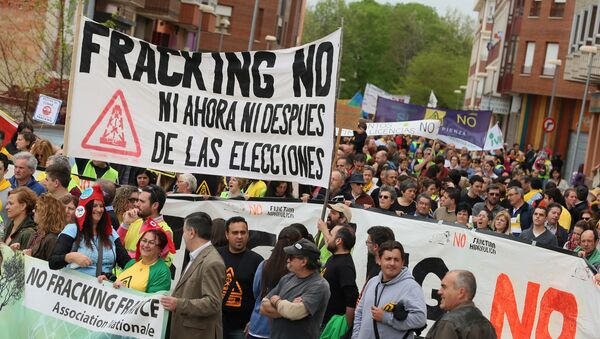 Demostraciones contra el 'fracking' en el norte de España - Sputnik Mundo