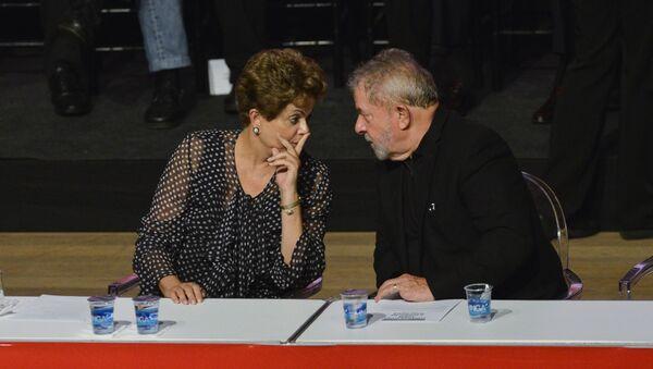 La presidenta de Brasil, Dilma Rousseff, y el exmandatario del  paìs, Luiz Inácio Lula da Silva - Sputnik Mundo