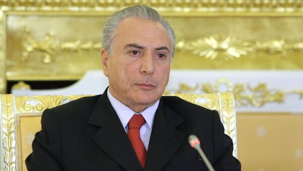 Michel Temer,  vicepresidente de la República de Brasil - Sputnik Mundo