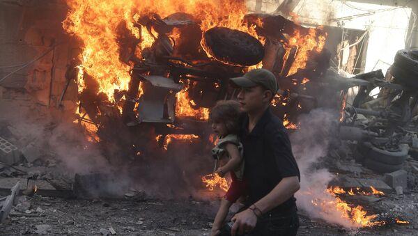 Situación en Douma, Siria - Sputnik Mundo
