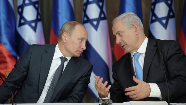 Vladímir Putin, presidente de Rusia y Benjamín Netanyahu, primer ministro de Israel (archivo) - Sputnik Mundo