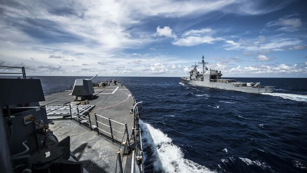 Buques estadounidenses en el mar de China Meridional (archivo) - Sputnik Mundo