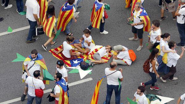 Partidarios de la independencia de Cataluña - Sputnik Mundo