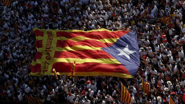 Demonstración Via Lliure en Barcelona - Sputnik Mundo