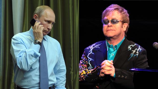 Vladímir Putin y Elton John - Sputnik Mundo