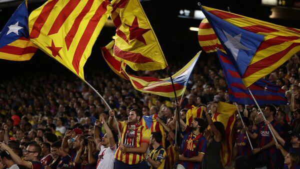 Catalanes se manifiestan en Barcelona - Sputnik Mundo
