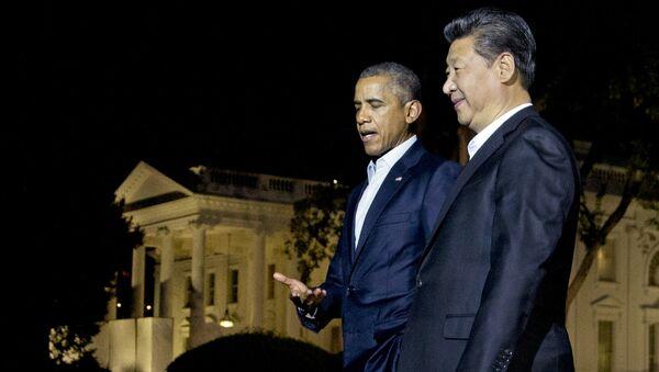 Presidente de EEUU, Barack Obama y presidente de China, Xi Jinping - Sputnik Mundo