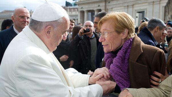 Papa Francisco y Lidia Guerrero (Archivo) - Sputnik Mundo