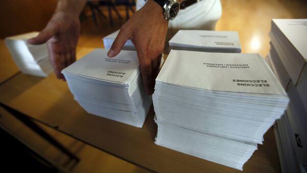 Preparativos para las elecciones en Barcelona, Cataluña - Sputnik Mundo