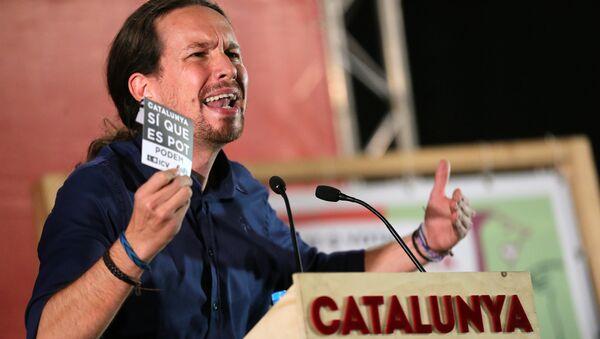 Pablo Iglesias, líder del partido Podemos - Sputnik Mundo