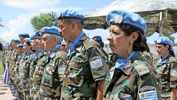 Cascos azules uruguayos (archivo) - Sputnik Mundo