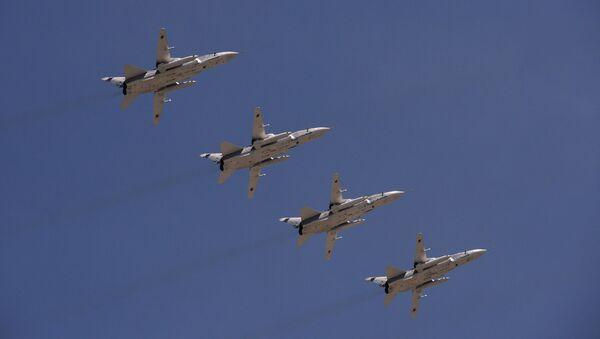 Bombarderos rusos Su-24 - Sputnik Mundo