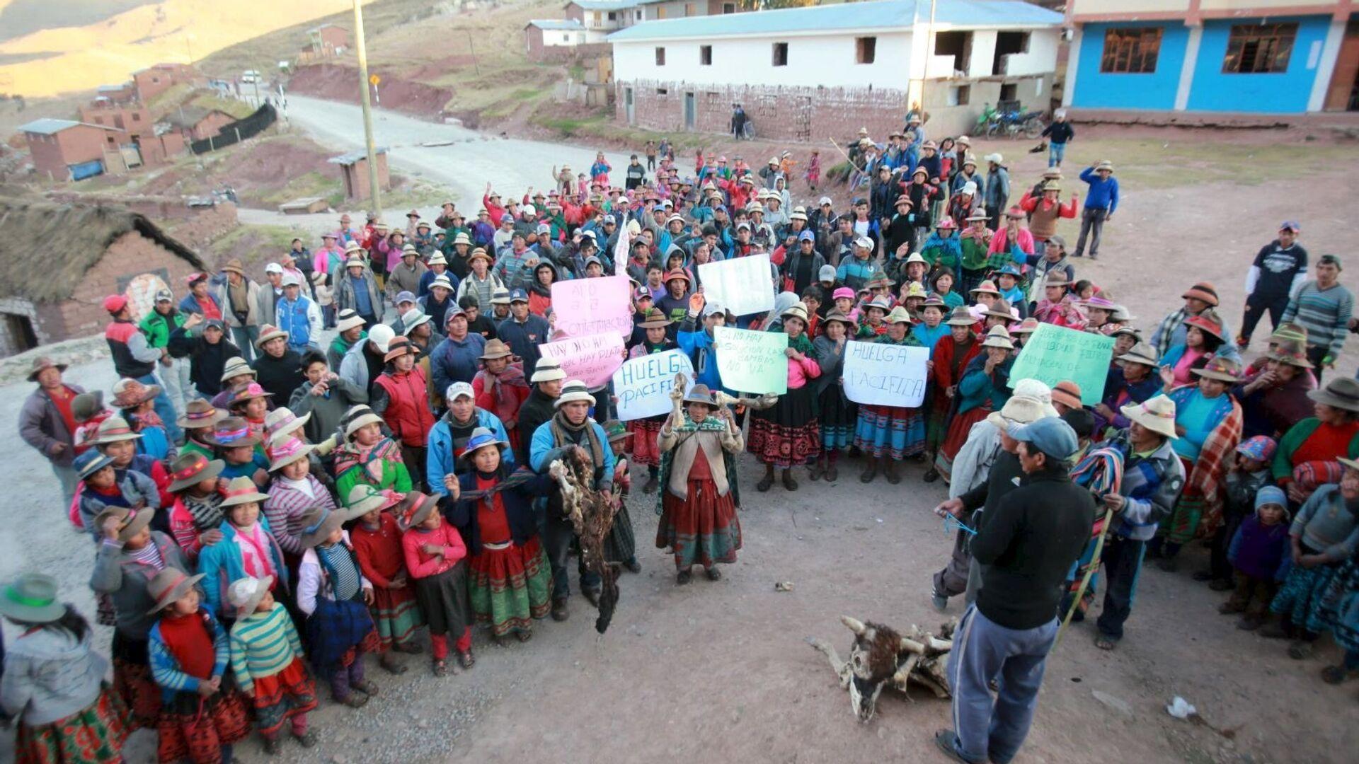 Las protestas contra la explotación del yacimiento minero Las Bambas - Sputnik Mundo, 1920, 28.09.2021